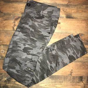 Grey monochromatic camo jeans